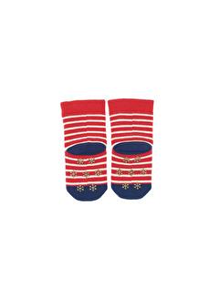 Katia Bony Çizgili Kız Bebek Çorap
